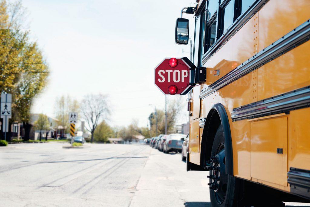School bus on street.